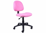 Boss Microfiber Deluxe Posture Chair in Pink - B325-PK