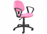 Boss Microfiber Deluxe Posture Chair in Pink - B327-PK