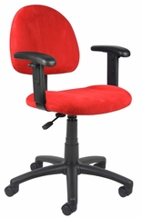 Boss Microfiber Deluxe Posture Chair in Red - B326-RD