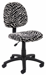 Boss Microfiber Deluxe Posture Chair in Zebra - B325-ZB