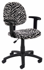 Boss Microfiber Deluxe Posture Chair in Zebra - B326-ZB