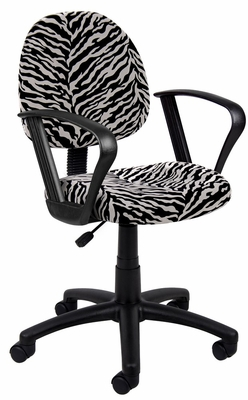 Boss Microfiber Deluxe Posture Chair in Zebra - B327-ZB