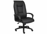 Boss Mid Back Chair in Leatherplus Black - B7601