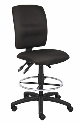 Boss Multi-Function Fabric Drafting Stool in Black - B1635-BK