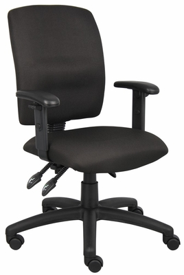 Boss Multi-Function Fabric Task Chair in Black - B3036-BK