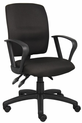 Boss Multi-Function Fabric Task Chair in Black - B3037-BK