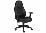 Boss Multi-Functional Mechanism Chair in Leatherplus Black - B781