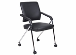 Boss Plus Training Chair With Chrome Frame in Black - 2 pcs - B1800-CP-2