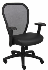 Boss Professional Managers Mesh Chair in Black - B6608