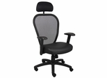Boss Professional Managers Mesh Chair in Black - B6808-HR