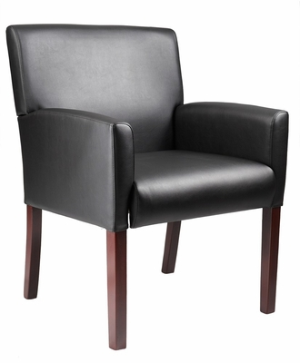 Boss Reception Arm Chair in Black - B629M