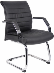 Boss Ribbed Guest Chair in Black - B9449
