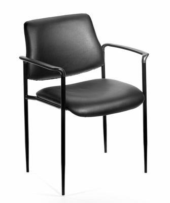 Boss Square Back Diamond Stacking Chair In Black - B9503-CS