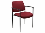 Boss Square Back Diamond Stacking Chair In Burgundy - B9503-BY