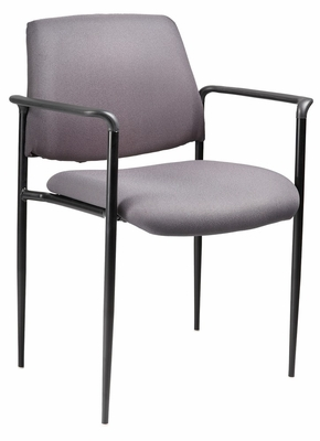Boss Square Back Diamond Stacking Chair In Grey - B9503-GY