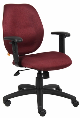 Boss Task Chair in Burgundy - B1014-BY