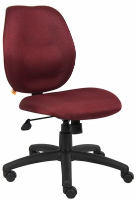 Boss Task Chair in Burgundy - B1016-BY
