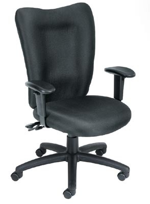 Boss Task Chair with Seat Slider in Black - B2007-SS-BK