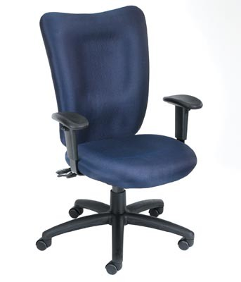 Boss Task Chair with Seat Slider in Blue - B2007-SS-BE