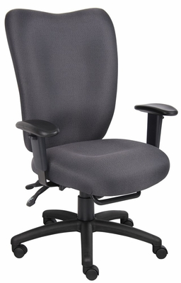 Boss Task Chair with Seat Slider in Grey - B2007-SS-GY