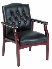 Boss Traditional Executive Side Chair in Black - B959-BK