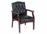 Boss Traditional Executive Side Chair in Black - B969-BK