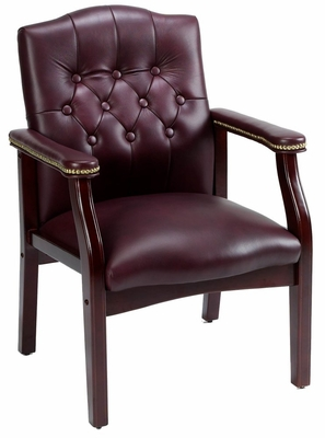 Boss Traditional Executive Side Chair in Burgundy - B969-BY