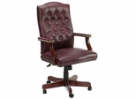 Boss Traditional Executive Swivel Chair in Burgundy - B915-BY