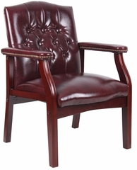 Boss Vinyl Guest Chair in Burgundy - B959-BY