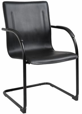 Boss Vinyl Side Chair in Black - 4pcs - B9535-4