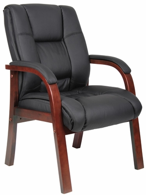 Boss Wood Finished Guest Chairs in Cherry - B8999-C