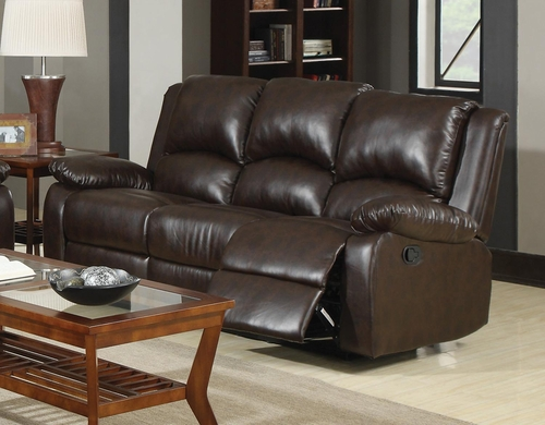 Boston Brown Three Seat Reclining Sofa - 600971