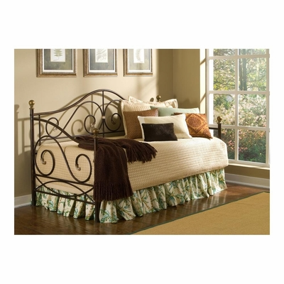 Boston Daybed in Caramel with Gold Accents - Largo - LARGO-ST-4980