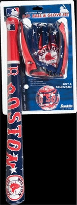Boston Red Sox MLB Soft Sport Bat, Ball & Glove Set - Franklin Sports