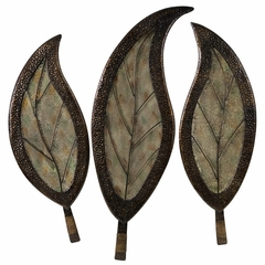 Botanical Wall Decor (Set of 3) - IMAX - 1155-3