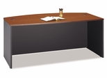 Bow Front Desk - Series C Auburn Maple Collection - Bush Office Furniture - WC48546