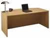 Bow Front Desk - Series C Light Oak Collection - Bush Office Furniture - WC60346