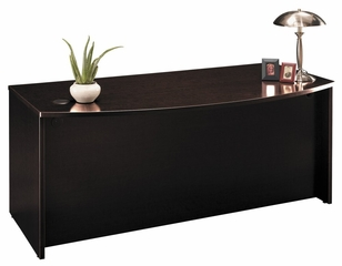 Bow Front Desk - Series C Mocha Cherry Collection - Bush Office Furniture - WC12946
