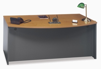 Bow Front Desk - Series C Natural Cherry Collection - Bush Office Furniture - WC72446