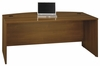 Bow Front Desk - Series C Warm Oak Collection - Bush Office Furniture - WC67546