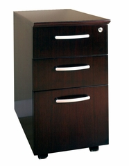 Box-Box-File Mobile Pedestals in Mahogany - Mayline Office Furniture - VBBFMAH