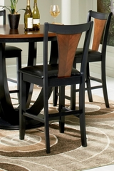 "Boyer 24"" Bar Stool (Set of 2) in Black / Cherry - Coaster - 102099-SET"
