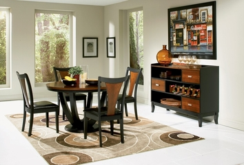Boyer 6-Piece Dining Room Furniture Set in Black / Cherry - Coaster - 102091-5-DSET