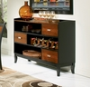Boyer Server in Black / Cherry - Coaster - 102095