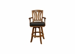 Bradbury Bar Stool in Vintage Oak - American Hertiage - AH-100626VO