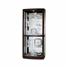 Bradington Curio Cabinet in Black Coffee - Howard Miller