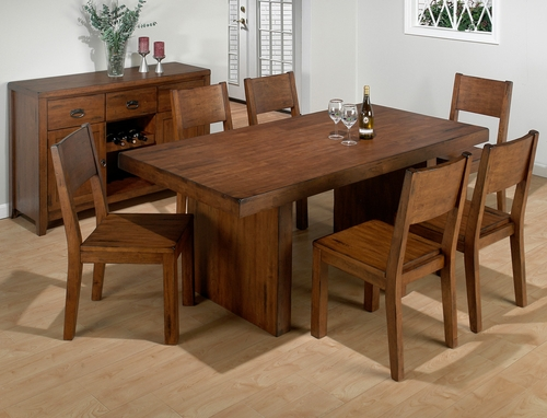 Braeburn Rough Hewn Cherry 7PC Dining Set - 252-75