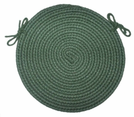 "Braided Hook Collection 15"" Chair Pad Evergreen - Rhody Rug - SYIB-20215CPEV"