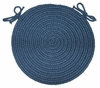 "Braided Hook Collection 15"" Chair Pad Williamsburg - Rhody Rug - SYIB-90215CPWB"