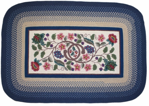 Braided Hook Collection 4'x6' Williamsburg - Rhody Rug - SYIB-90246WB